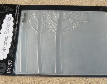 Darice Embossing Essentials, Embossing Folder, Forest Background