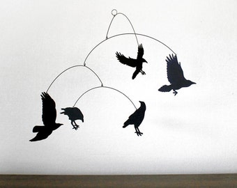 Hanging Mobile   NEVERMORE! The RAVEN mobile