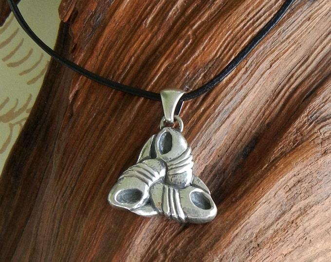 Odin's Triple Horn Pendant in Silver