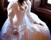 "Steampunk Wedding Dress Unique Victorian Corset Long Sleeve Alternative Bridal Gown Cinderella Disney ""Steampunk Fairytale Gown"" Custom"