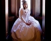 Long Sleeve Steampunk Wedding Dress Alternative Corset Gown Victorian BallGown Fairytale Modest Custom Petite to Plus size