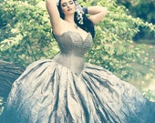 """Silver Ombre Wedding Dress - Fairy Gown - Steampunk Fairytale - Gothic Renaissance Halloween """"Adelaide Gown"""" -Custom to your size"""