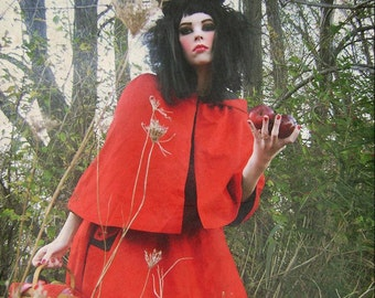 Mini Cape Little Red Riding Wolf Adult Halloween Costume-Made to Order