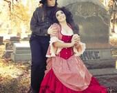 "Mrs Lovett Costume Sweeny Todd Cosplay Victorian Costume Tim Burton Striped Steampunk Wedding Dress ""Gothic Striped Gown"" Custom to Order"
