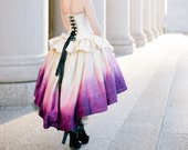 Ombre Wedding Dress Fairy Costume High Low Dress Masquerade Gown Unique Wedding Dress Ombre Fairytale Gown Custom to Order
