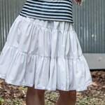 White Cotton Lolita Petticoat  - Western Teired  Skirt - Victorian Steampunk Pettiskirt  - Petite to Plus size - Custom to your size XS-5XL