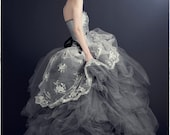 Cinderlla Wedding Dress-Whimsical Fairytale Ball Gown Rhinestones and Tulle Couture- Custom to Order