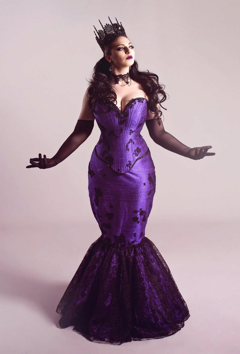 9f63522d0c Gothic Purple Wedding Dress Fit and Flare Mermaid Masquerade
