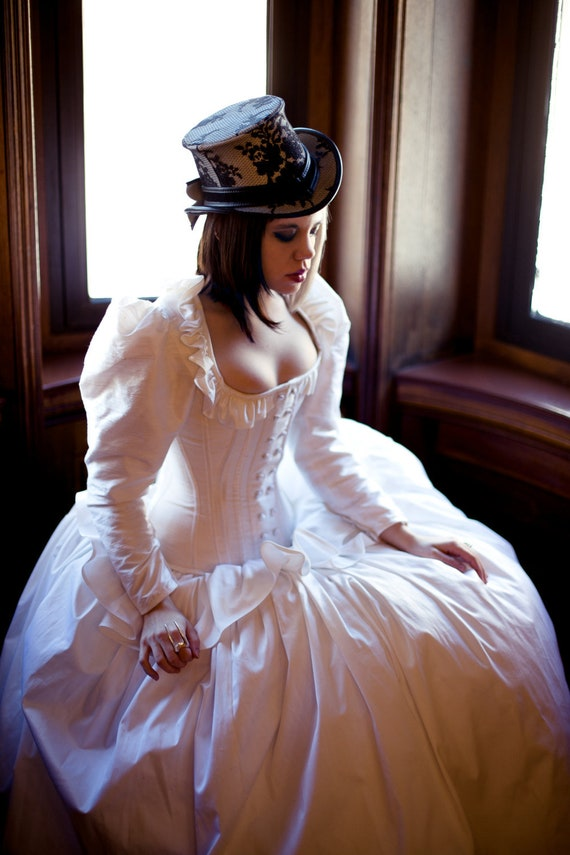 Victorian Wedding Dresses, Shoes, Accessories  Steampunk Wedding Dress Unique Victorian Corset Long Sleeve Alternative Bridal Gown Cinderella Disney