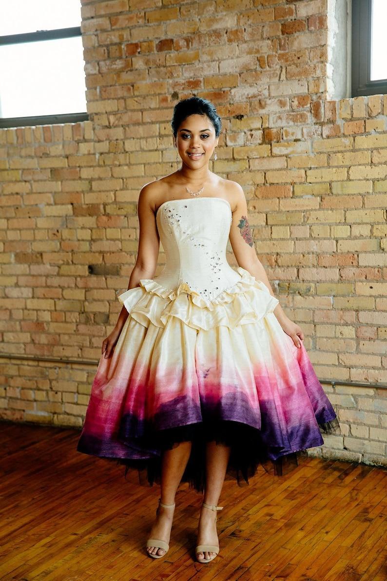 ab06852da8 Ombre Wedding Dress Woodland Fairy Costume Alternative High
