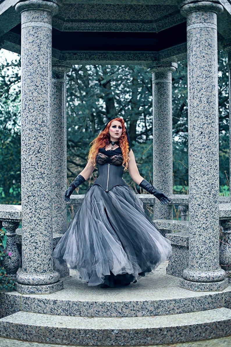 fd4c3c1910 Gothic Tulle Skirt Ombre Fairy Costume Skirt Goth Petticoat | Etsy