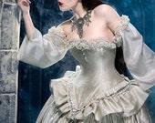 Cinderella Ballgown Wedding Dress Fantasy Unique Alternative Bridal Gown Masquerade Costume Renaissance Custom Order Petite to Plus Size