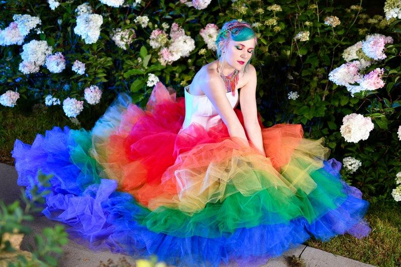 157db64277 Rainbow Tulle Skirt Petticoat Ballgown Pride LGBTQ Prom | Etsy