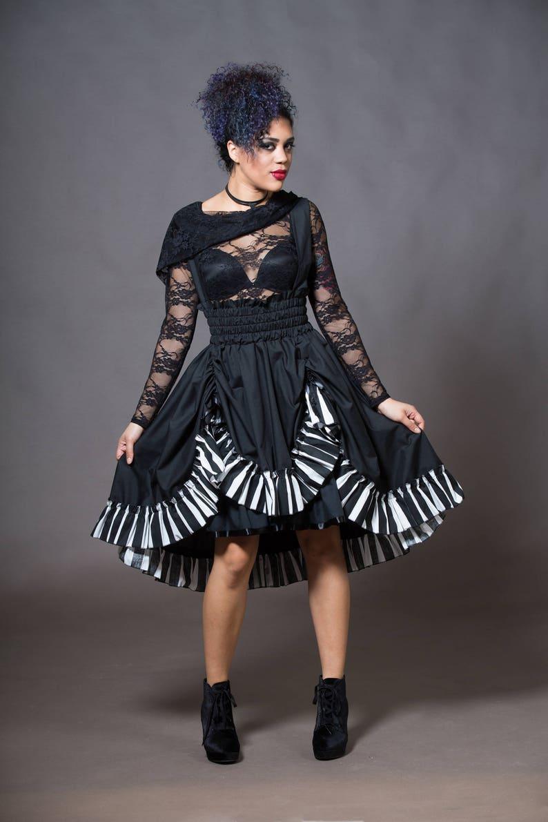 9f1701300639d Steampunk Dress Tim Burton Adult Halloween Costume High