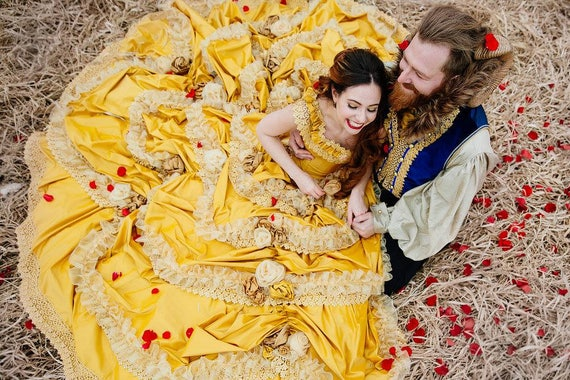 Sample Beauty And The Beast Wedding Dress Couture Belle Dress Etsy