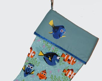 Personalized, Christmas Stocking, Dory Stocking, Quilted Stocking, Stocking, Dory, Ready to Ship