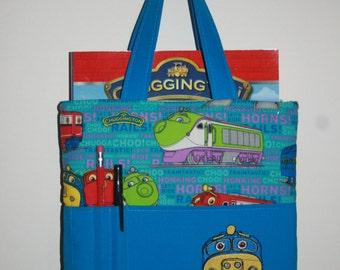 Crayon Bag, Tote Bag, Crayon Tote Bag, Crayon Holder, Chuggington