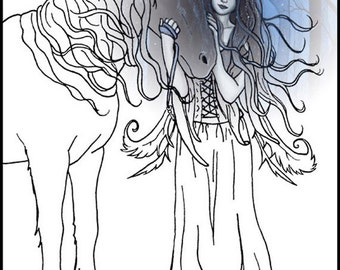 Gothic Fairy Coloring Pages – coloring.rocks! | 270x340