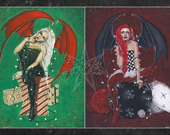 Summoning Devil Beast Angel Demon Wings Original Art Artwork Poster Print 11x17