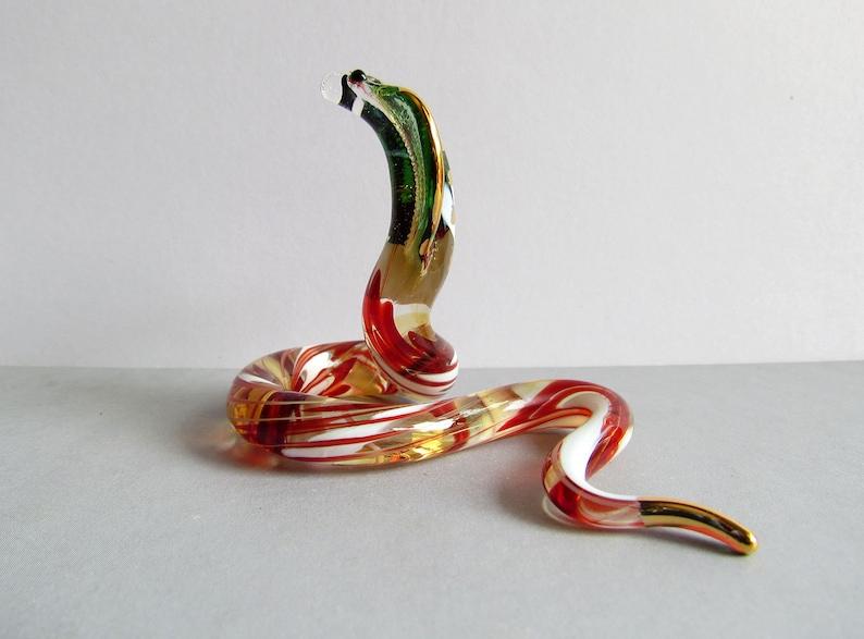 Handmade Dollhouse Miniatures Collectible Ceramic Porcelain Cobra Snake FIGURINE