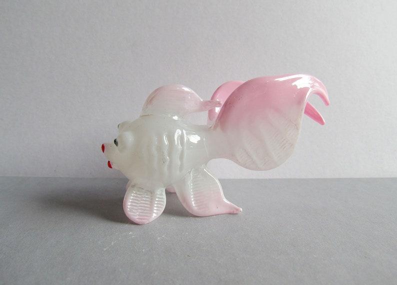 New Tiny Goldfish Hand Blown Glass Figurine Dollhouse Miniature Decor Cute Gift