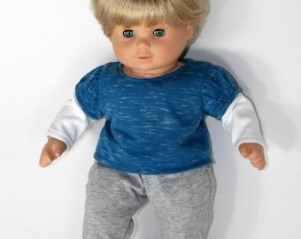 "Layered sleeve tee fits 15"" baby dolls"