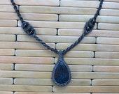 Pietersite and Lava Stone Silk Necklace