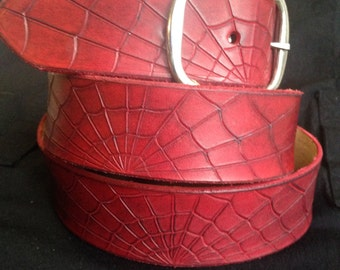 Leather Spiderweb Belt