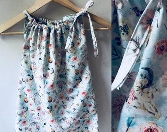 Girls dress, girls clothing, dress, deer, rustic, antler, floral, girls outfit, childrens apparel, toddler dress, toddler clothing
