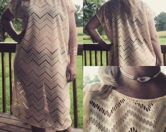Swimsuit cover, swimsuit coverup, beach dress, beach cover up, kaftan, crochet, lace cover up, lingerie, nightgown, brown, tan, bathingsuit