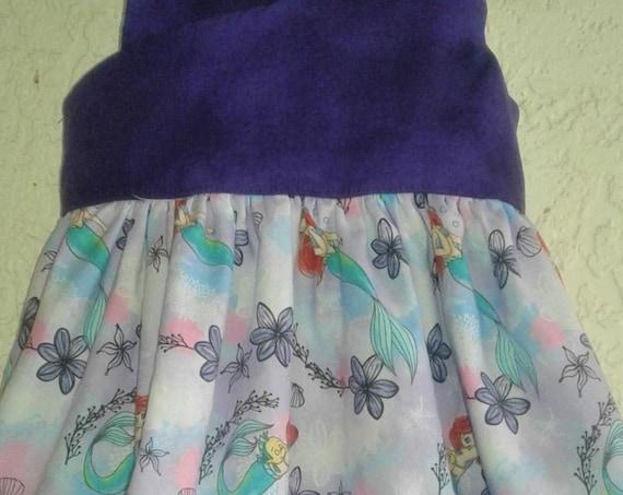Girls Disney Inspired Mermaid dress, Princess Ariel