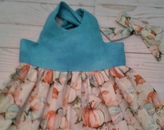 Fall Holiday dress, Baby Dress,Toddler Dress, Party Dress, Pumpkin Patch, Fall Festivals