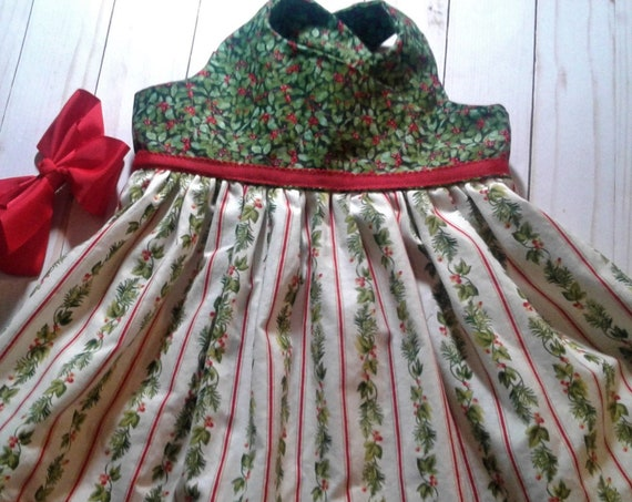 Girls Christmas Dress, Handmade, Christmas Party dress, Toddler fashions, Baby Holiday