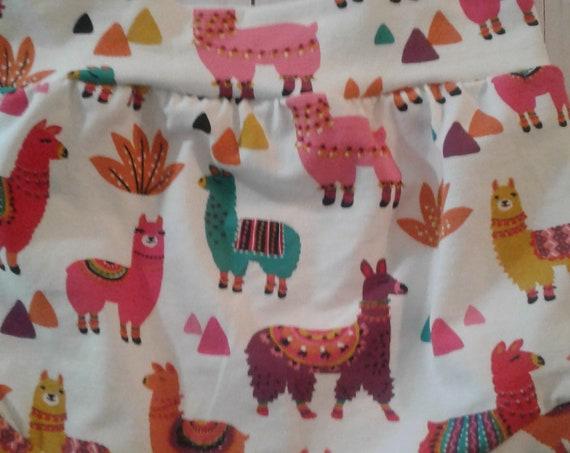 Llama Bummies, Cotton knit Shorties, Baby Bummies, Toddler Bummies, Summer Shorts, Beach Shorts