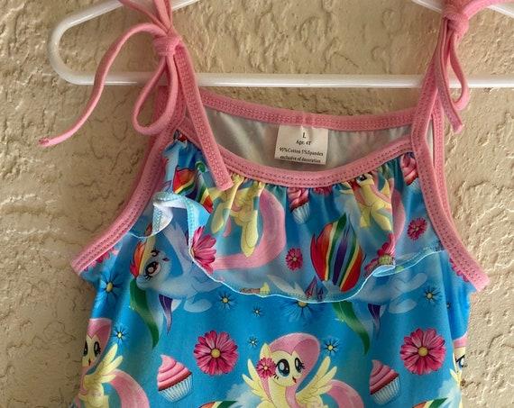My Little Pont dress, Twirling dress, Milk silk dress, Ready to ship