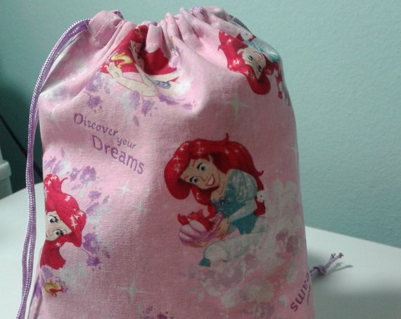 6 Ariel gift bags,Disney bags ,Birthday Bags, Treat Bags, Candy Bags, Goody bags, 9x7 bags