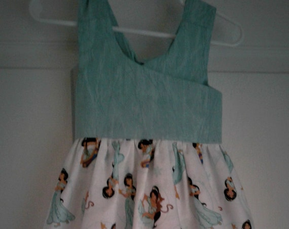 Jasmine  Dress,Aladdin Movie,  Girls Party Dress, Disney Parks, Disney Vacation,Baby Dress, Toddler Dress , Princess Birthday  Free Shipping