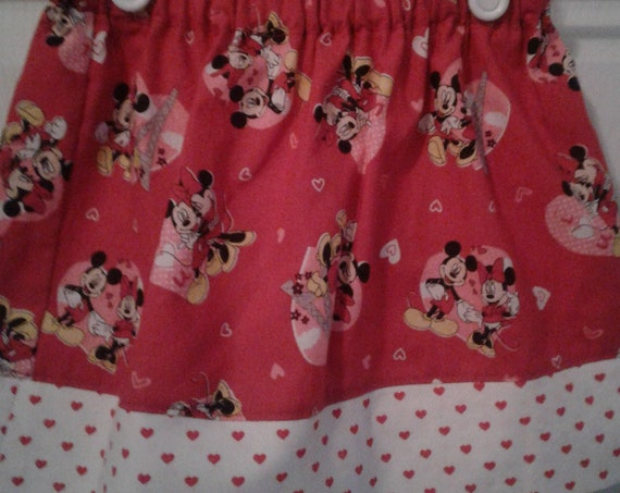 Disney Skirt, Be Mine  Minnie Valentines Girls Skirt Toddler Skirt, Ready to Ship,