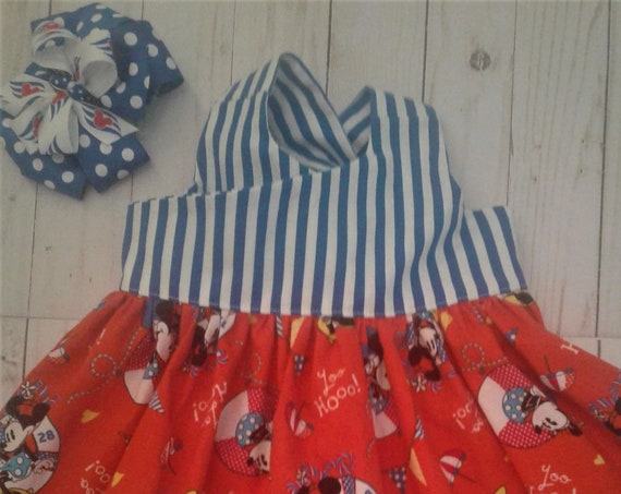 Disney Cruise Dress, Minnie Dress, Minnie Nautical Dress, Toddler Minnie dress, Baby Disney