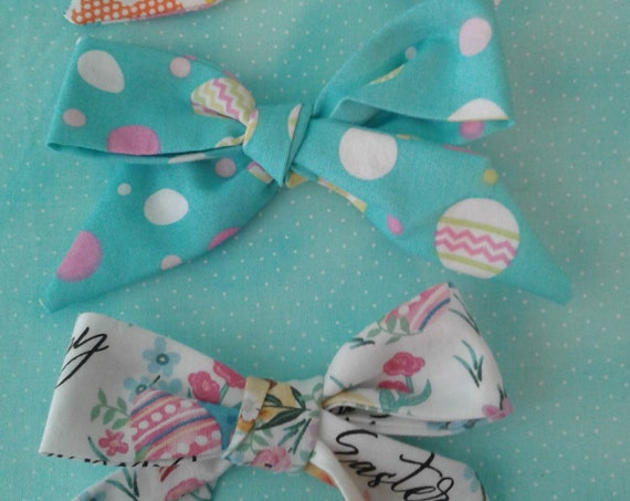 Easter bows, Hand tied bows, Baby bow, Toddler Bow, Ready to ship