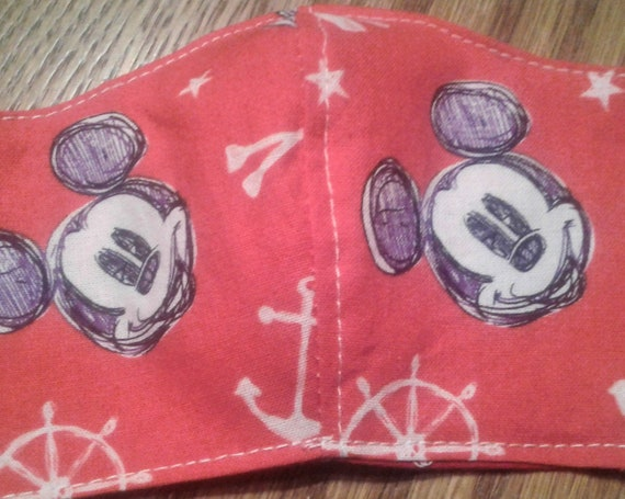 Face Masks,Handmade fabric face mask,Micky Mouse mask, Disney Inspired Face mask,  Children's face mask, Size 3-6 years