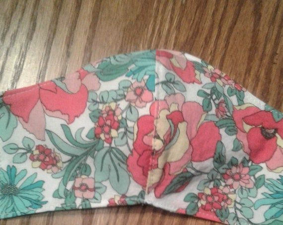 Face Mask, Floral Handmade Fabric Mask. Ready to ship, Free Shipping