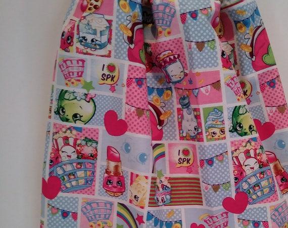 Girls Shopkins Drawstring Backpack, Handmade, Drawstring Bag, Back to School Backpack, Girls Birthday Gift