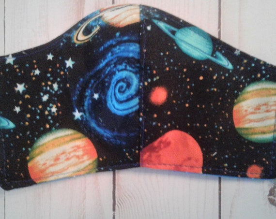 Solar System Face Mask,Outer Space mask Washable and Reusable, 3-6 yrs,7-12 yrs, Adult size, Free shipping, 2 day shipping