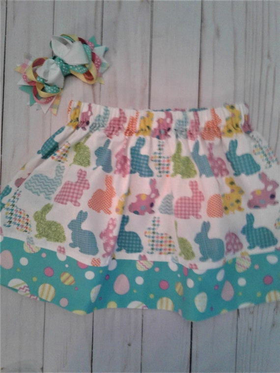 Girls Easter skirt, Easter Bunny skirt, Toddler skirt, Baby skirt,
