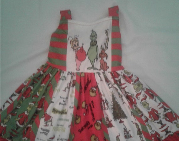 Grinch Twirling dress, Ready to ship