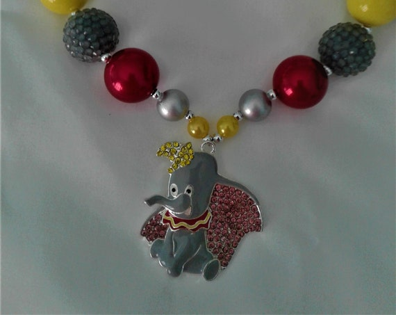 Disney Dumbo Inspired Bubblegum necklace, Girls jewelry,Disney Parks, Disney Vacation