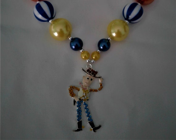 Disney Woody Toy Story Inspired Bubblegum necklace, Girls jewelry,Disney Parks, Disney Vacation