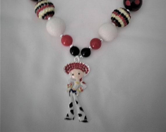 Disney Jessie Toy Story Inspired Bubblegum necklace, Girls jewelry,Disney Parks, Disney Vacation