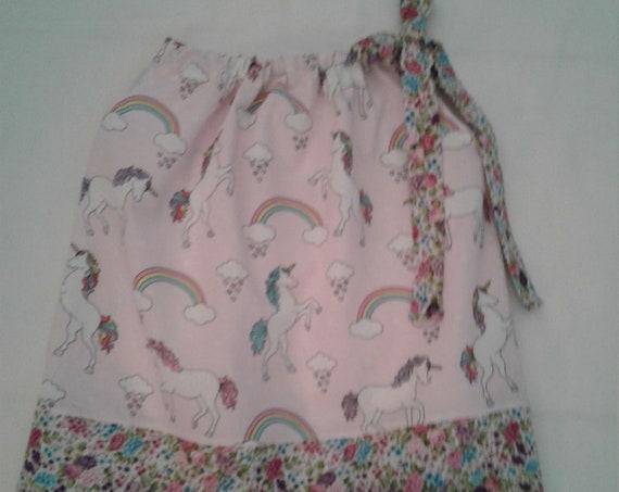 Unicorn Girls Pillowcase dress, Pink Unicorn Dress,Unicorn Birthday dress,Unicorn Sundress,Unicorn Party Dress